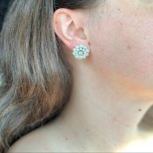 Rhinestone Crystal Floral Earring
